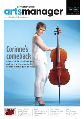 Corinne Morris International Arts Manager Cover