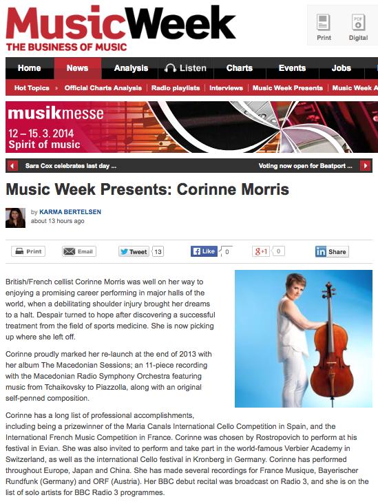 Music Week Corinne Morris