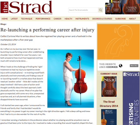 Corinne Morris - The Strad Article